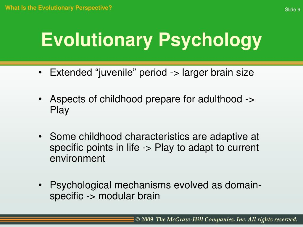 evolutionary perspective psychology essay