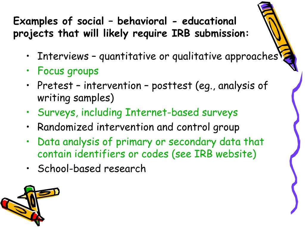 Examples of social – behavioral - educational