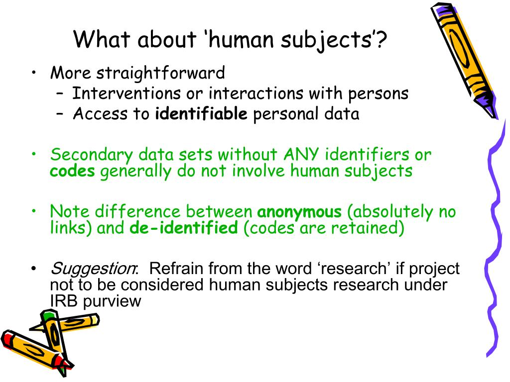 What about 'human subjects'?