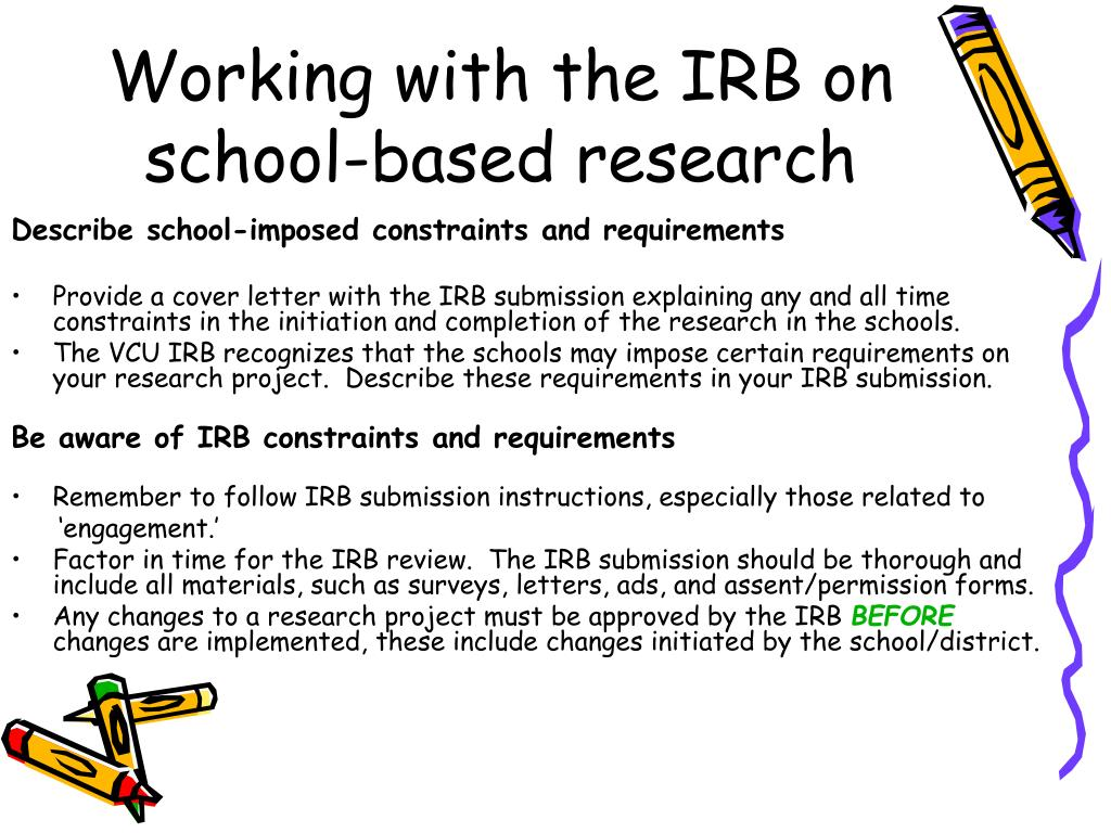 Working with the IRB on school-based research