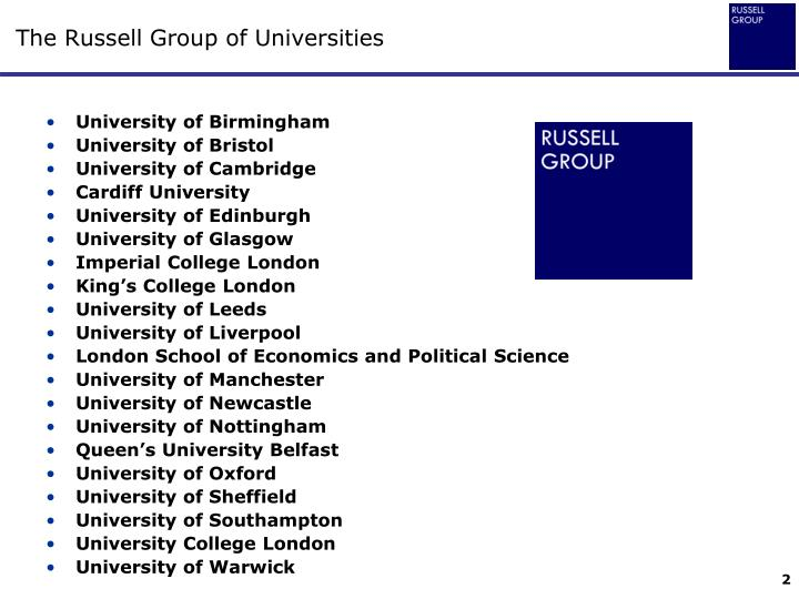 The russell group of universities