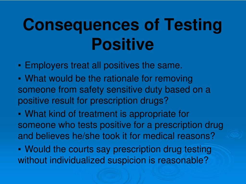Consequences of Testing Positive