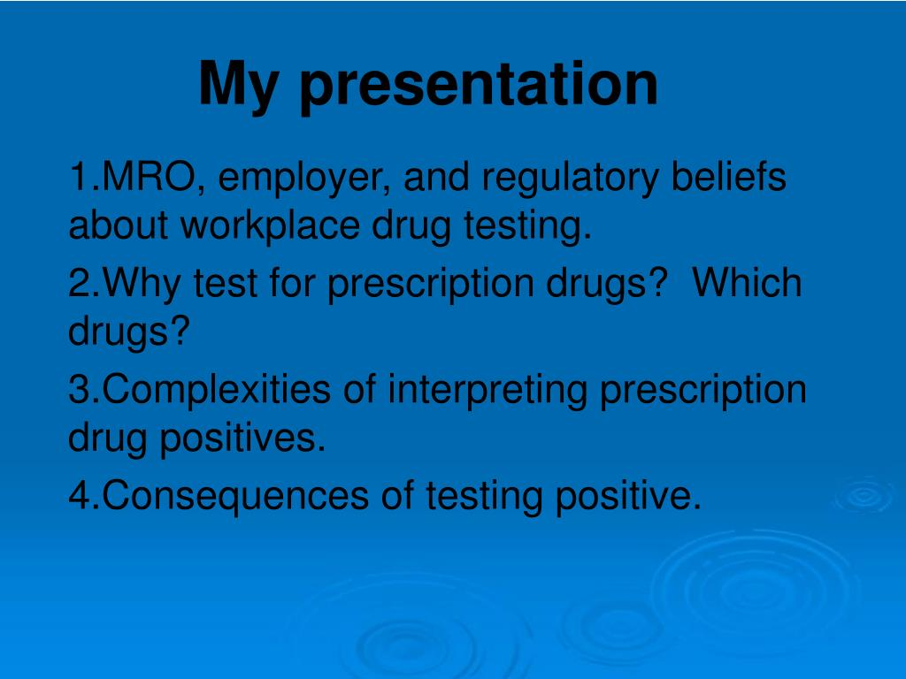 MRO, employer, and regulatory beliefs about workplace drug testing.