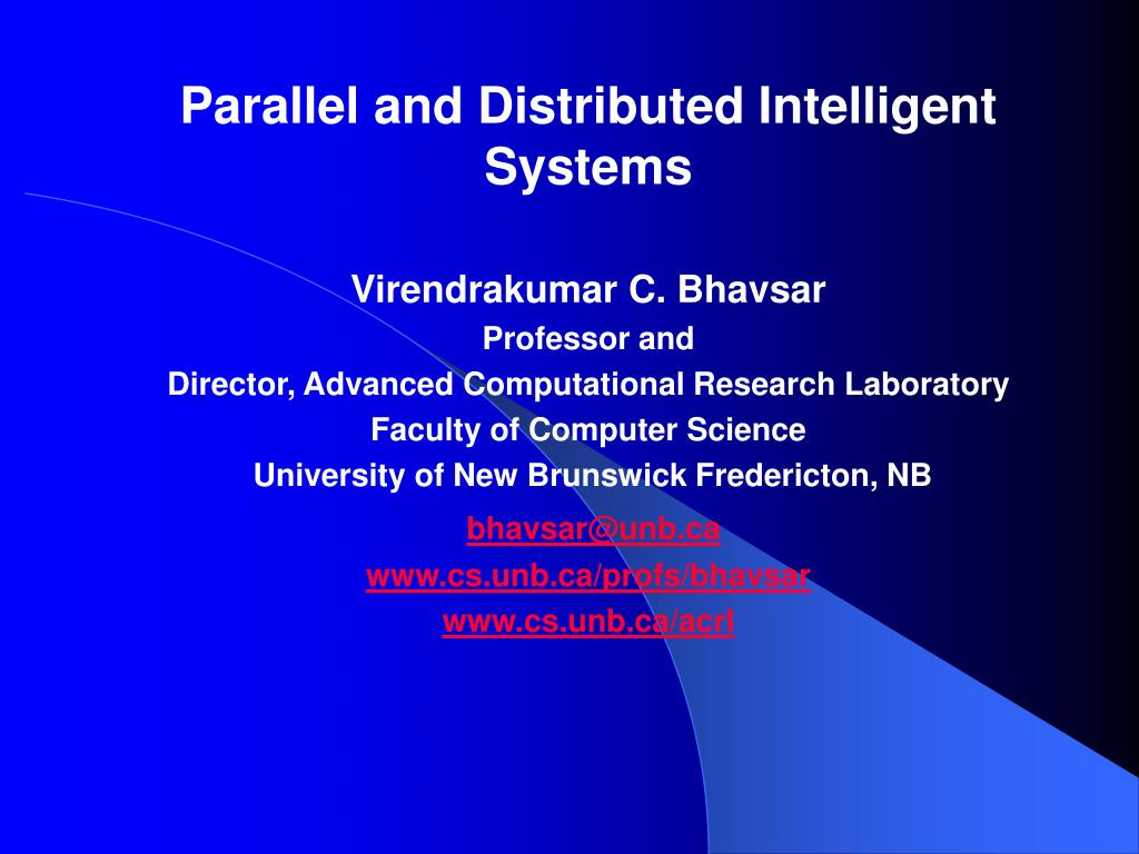 Parallel and Distributed Intelligent Systems