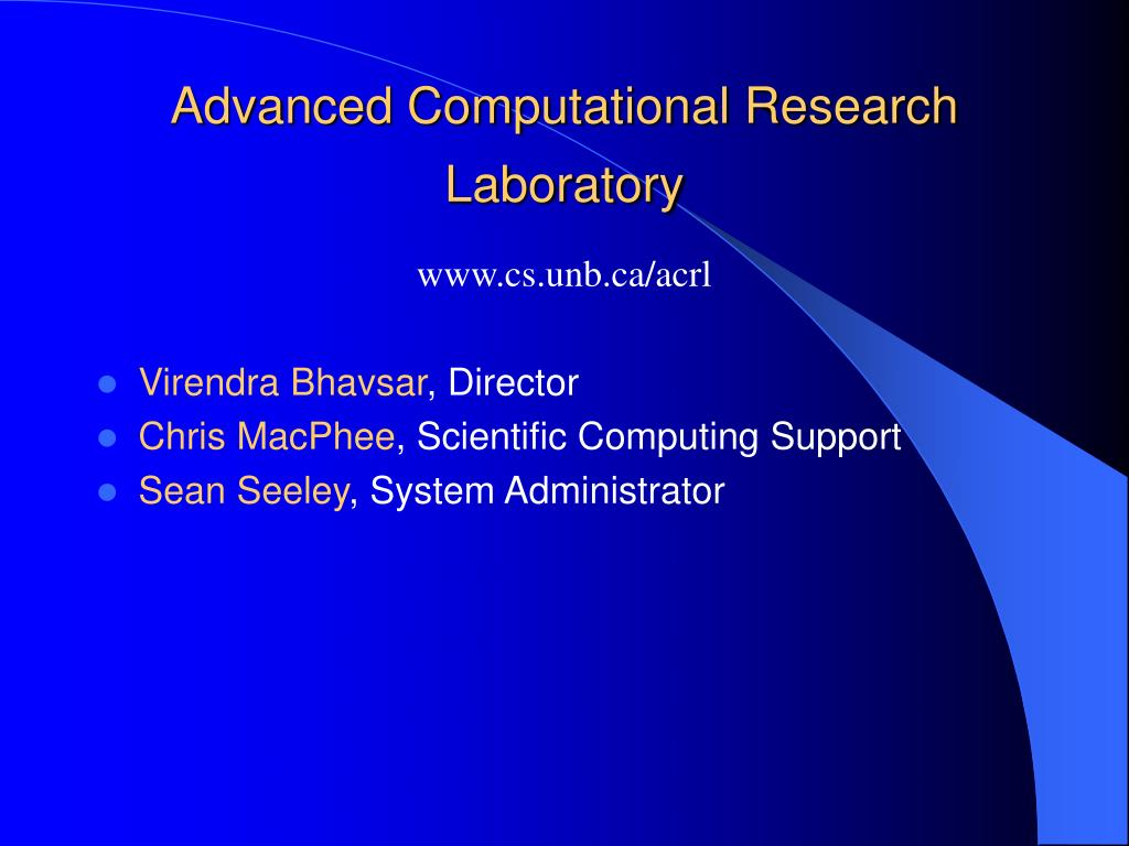 Advanced Computational Research Laboratory