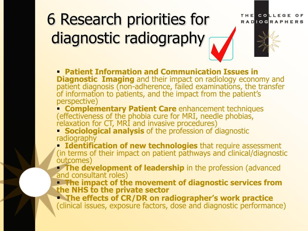 6 Research priorities for