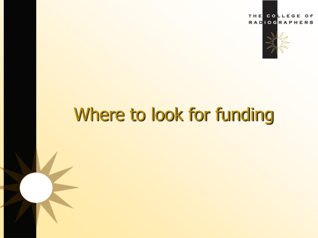 Where to look for funding