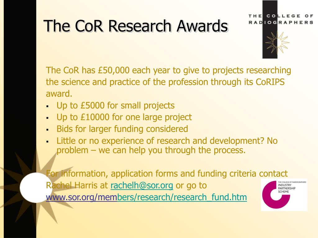 The CoR Research Awards