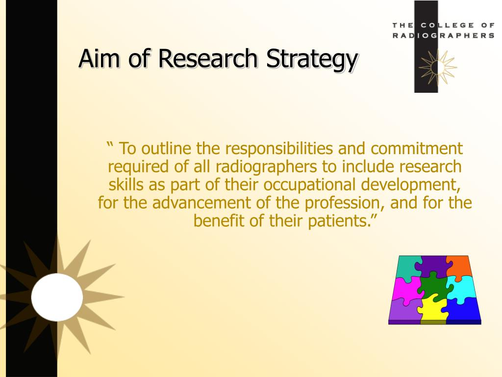 Aim of Research Strategy