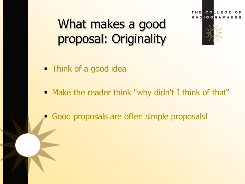 Think of a good idea