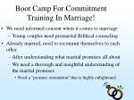 boot camp for commitment training in marriage