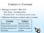 contract vs covenant