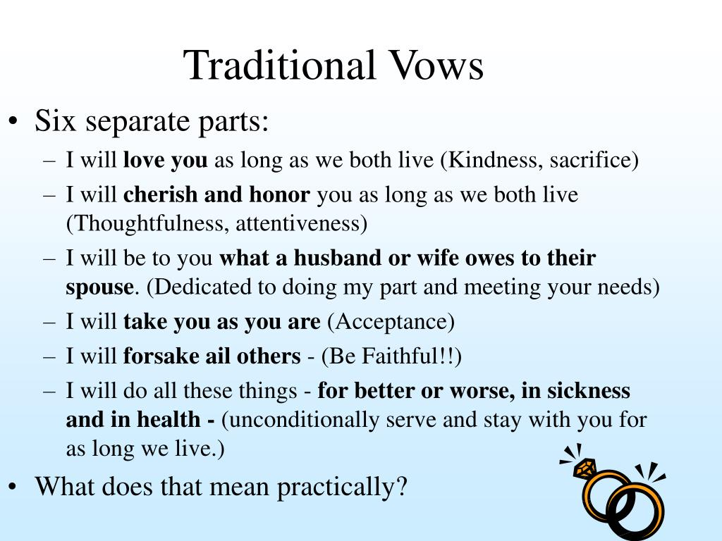 Traditional Vows
