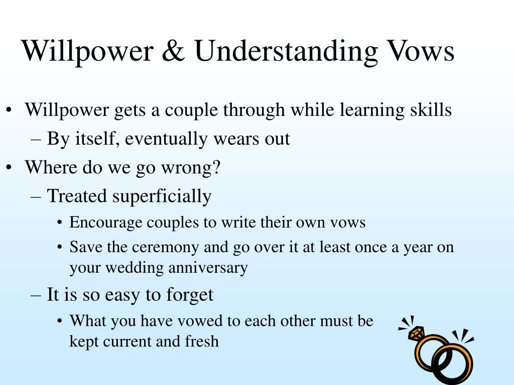 Willpower & Understanding Vows