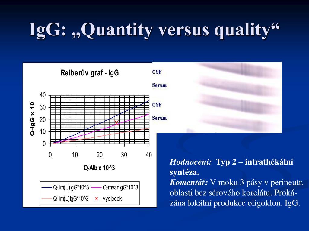 "IgG: ""Quantity versus quality"""