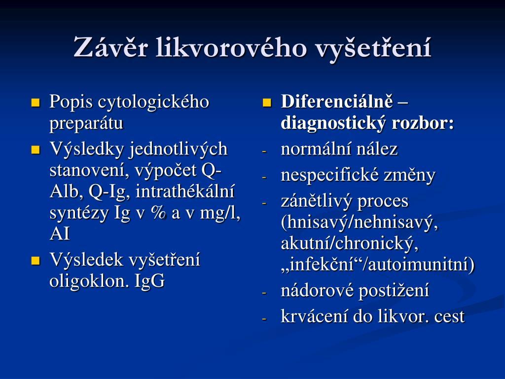 Popis cytologického preparátu