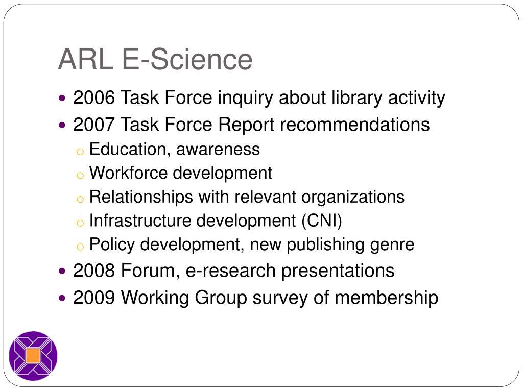 ARL E-Science