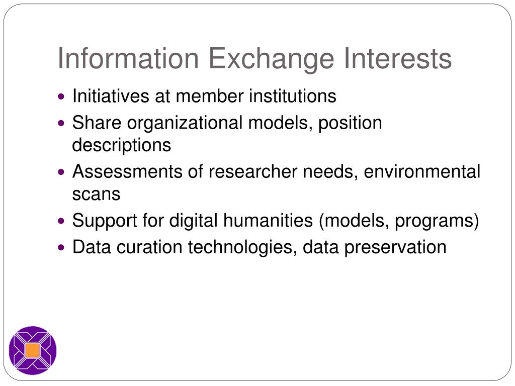 Information Exchange Interests