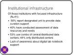 institutional infrastructure