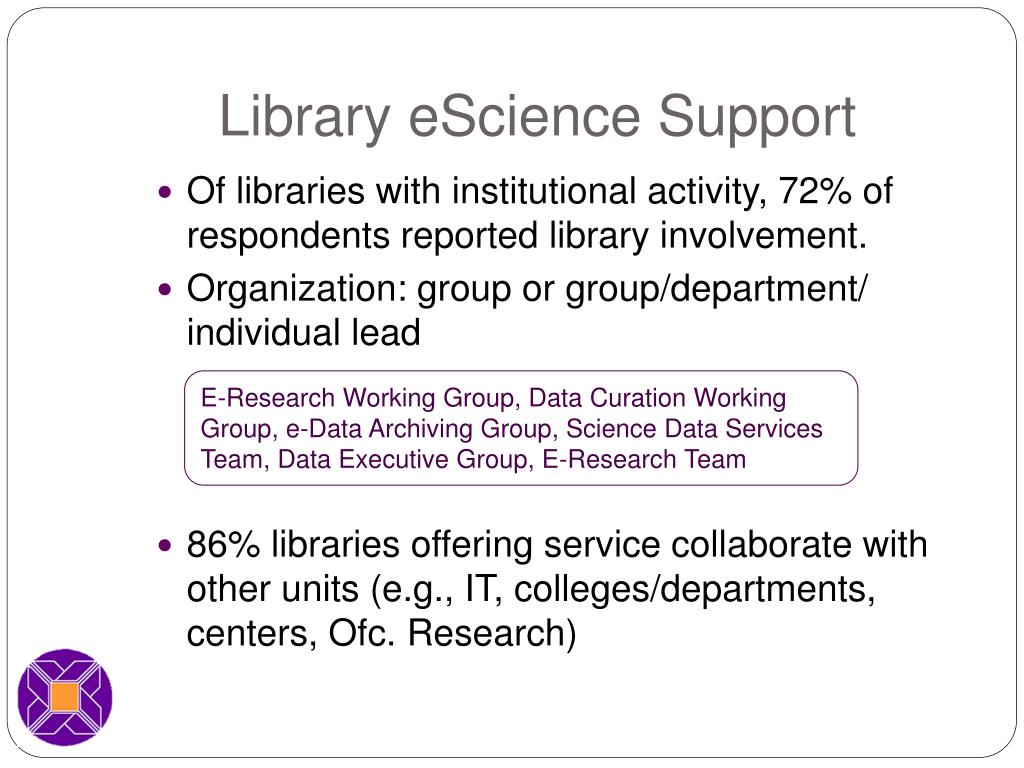 Library eScience Support