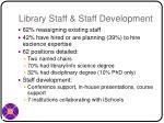 library staff staff development