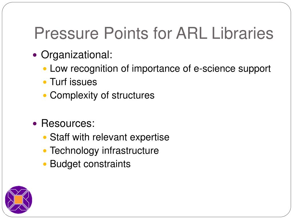 Pressure Points for ARL Libraries