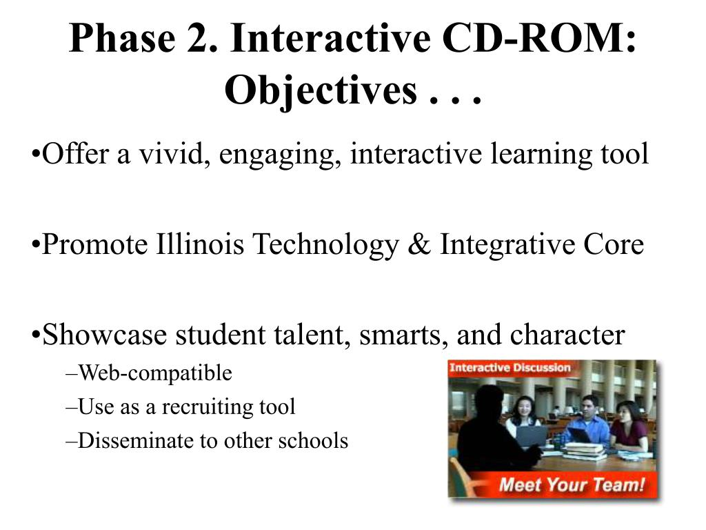Phase 2. Interactive CD-ROM:
