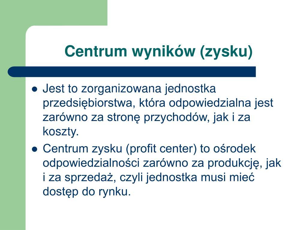 Centrum wyników (zysku)