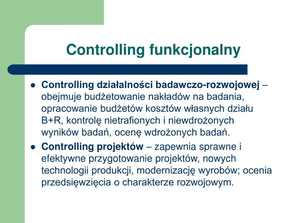 Controlling funkcjonalny