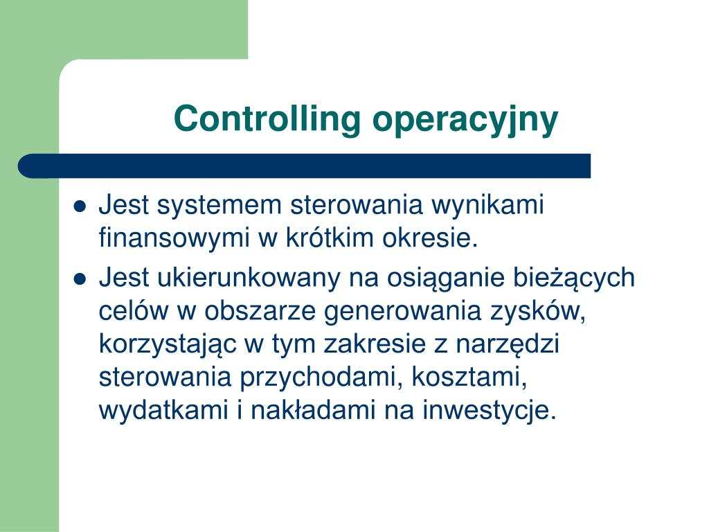 Controlling operacyjny