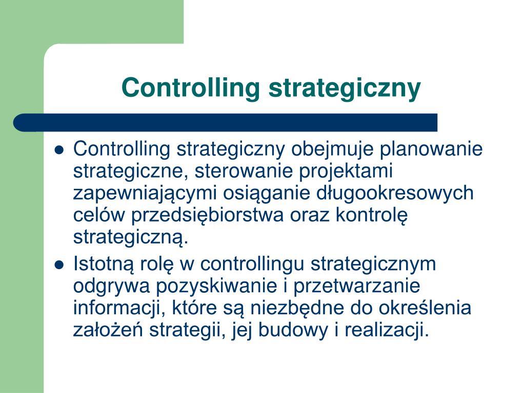 Controlling strategiczny