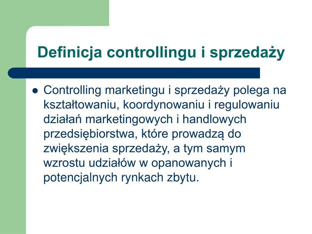 Definicja controllingu i sprzedaży