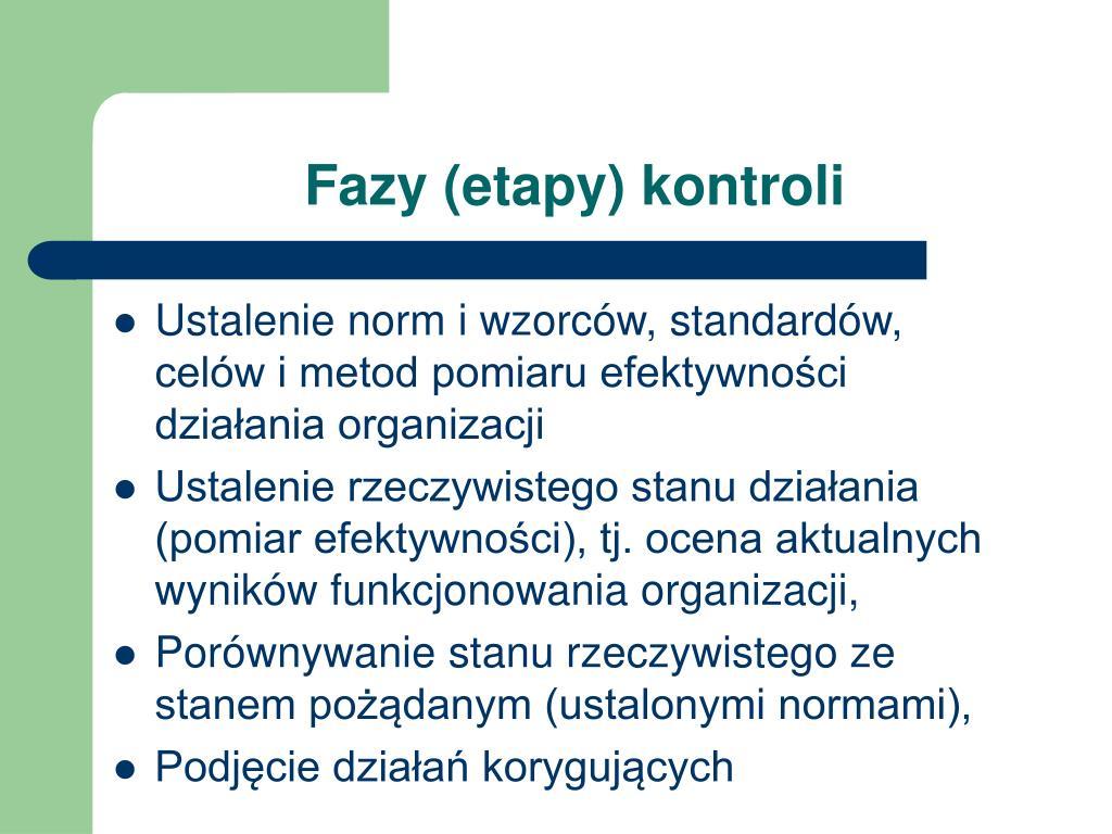Fazy (etapy) kontroli