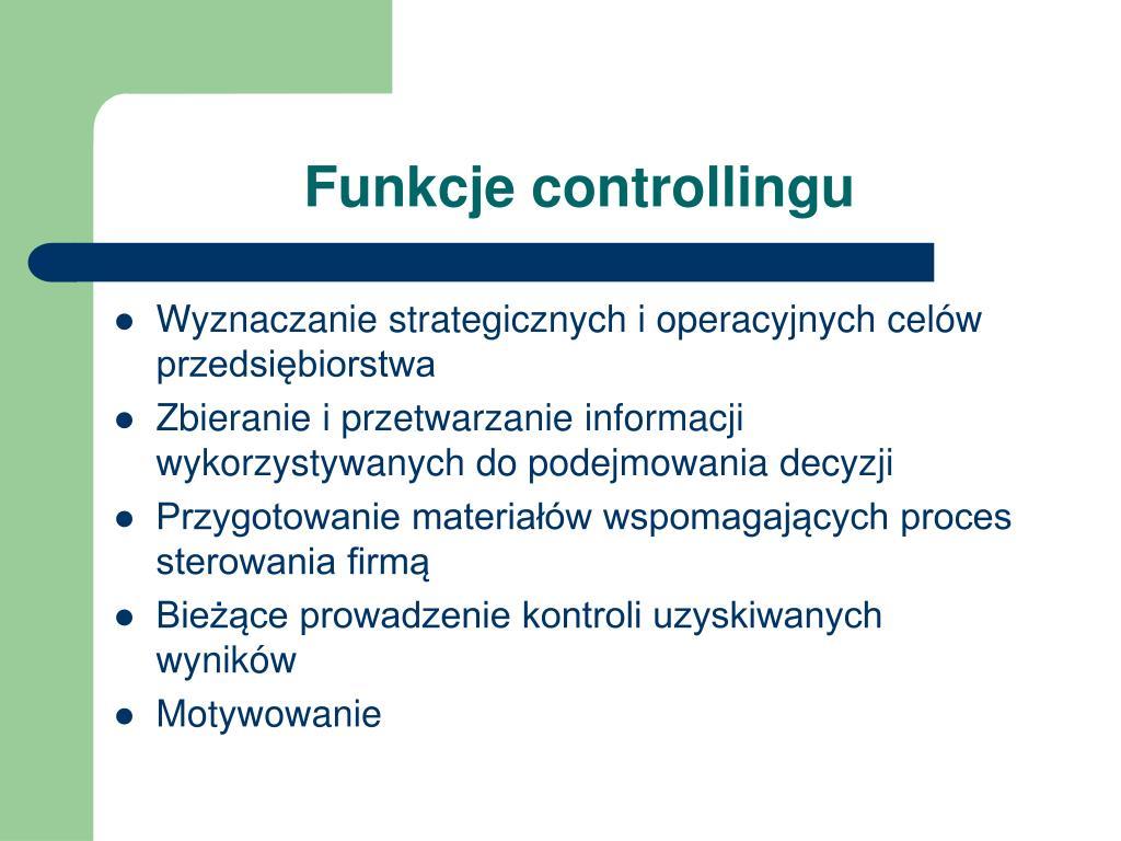 Funkcje controllingu