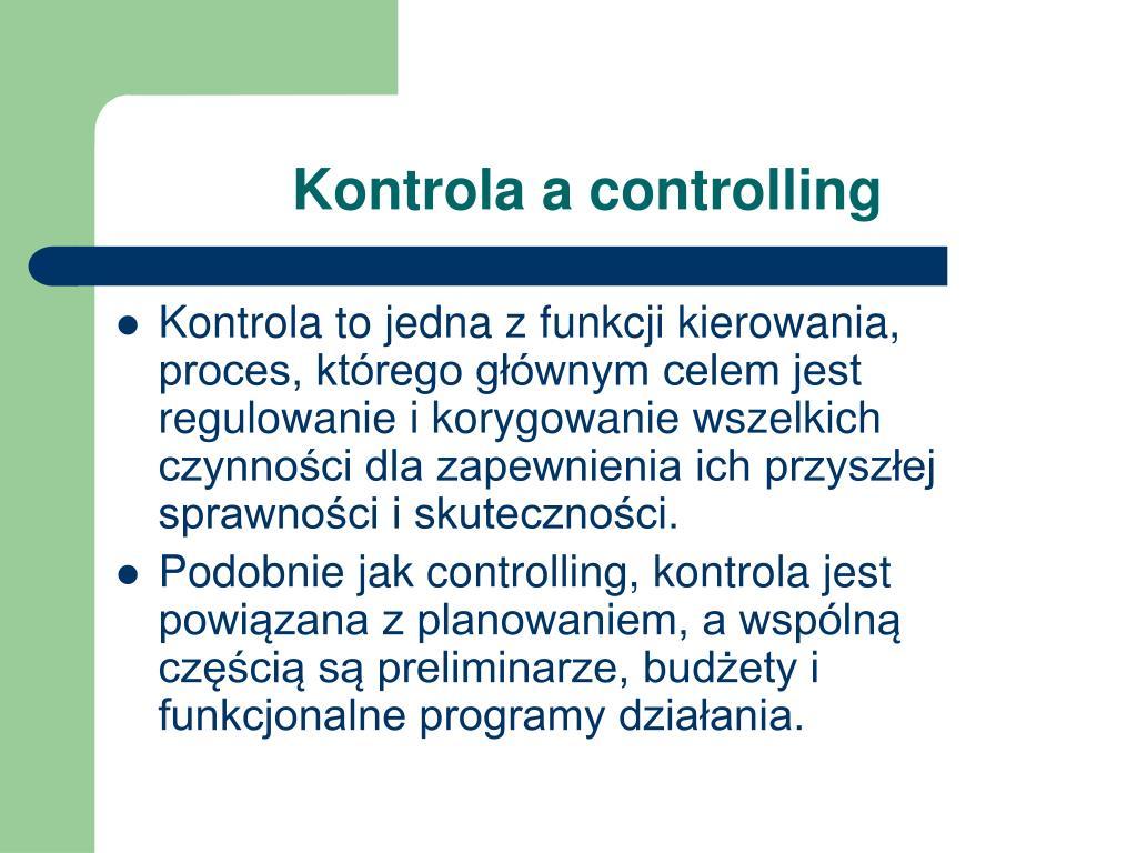Kontrola a controlling