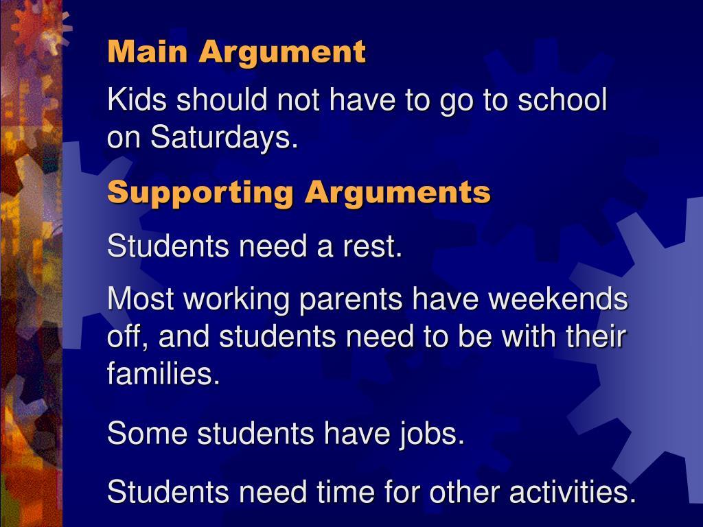 Main Argument