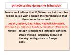 144 000 sealed during the tribulation