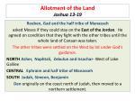 allotment of the land joshua 13 19