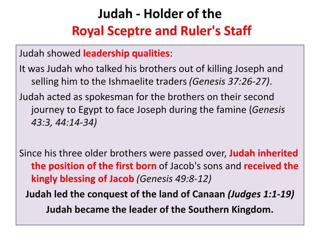 Judah - Holder of the