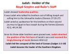 judah holder of the royal sceptre and ruler s staff