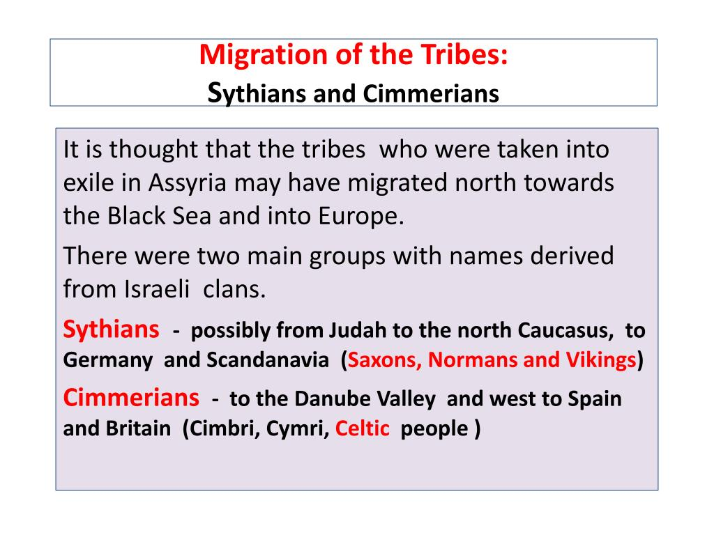 Migration of the Tribes: