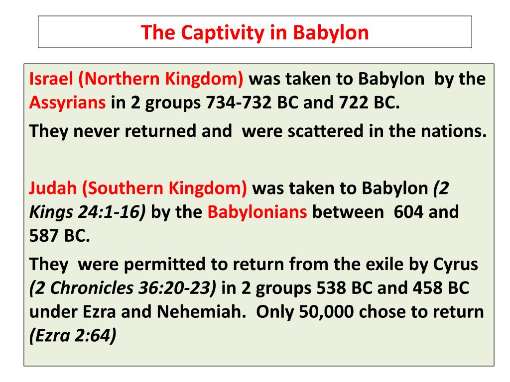 The Captivity in Babylon
