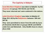 the captivity in babylon