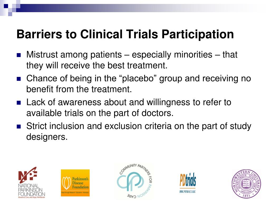 Barriers to Clinical Trials Participation