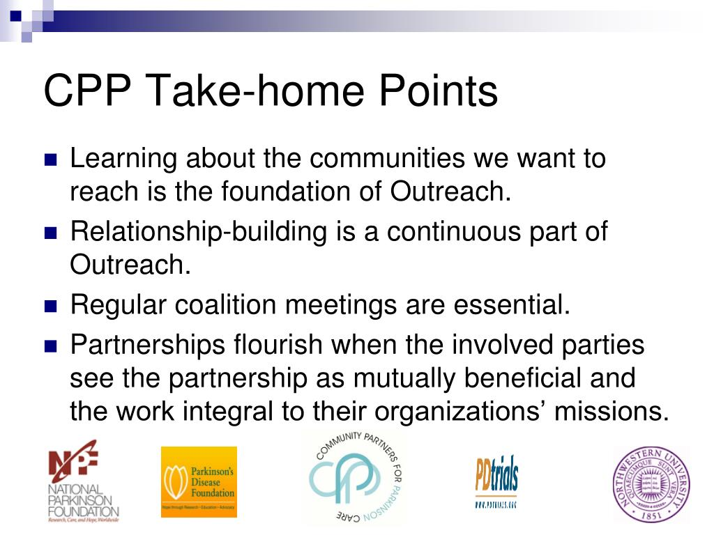 CPP Take-home Points
