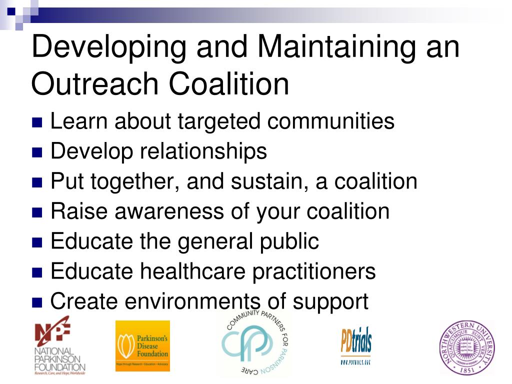 Developing and Maintaining an Outreach Coalition