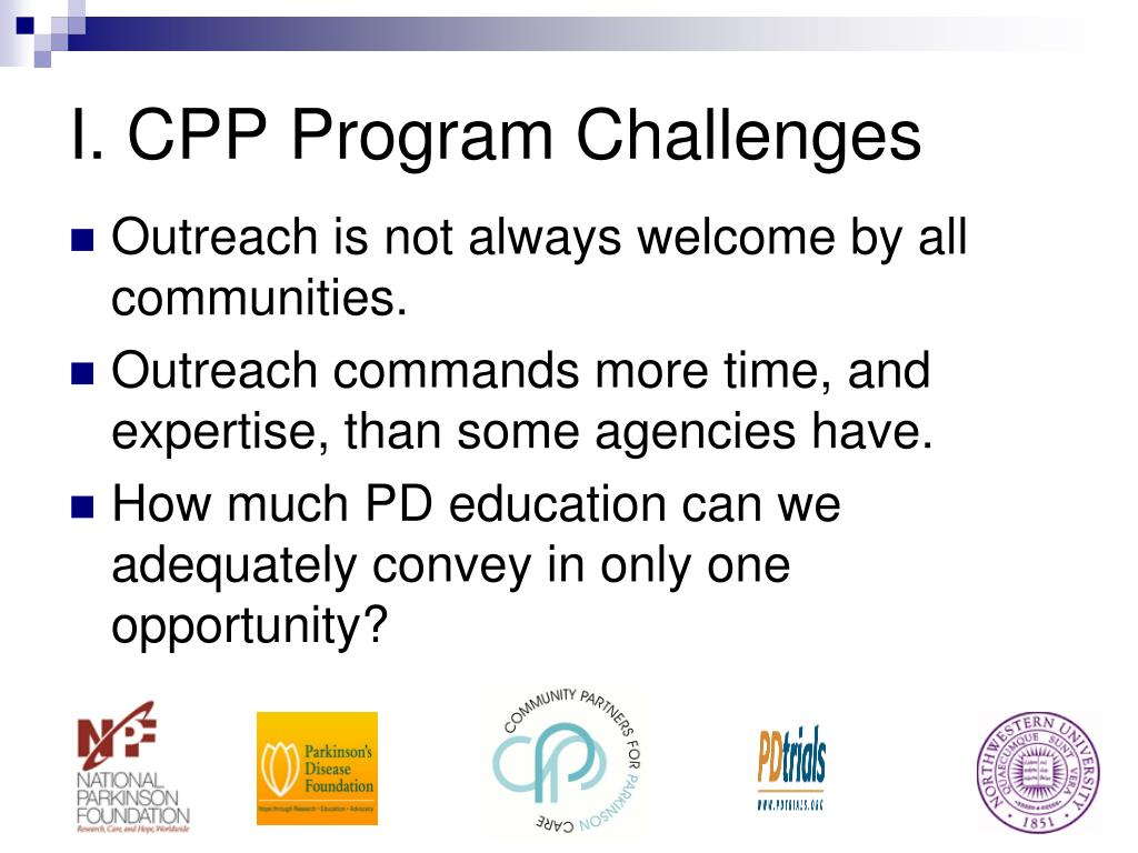 I. CPP Program Challenges