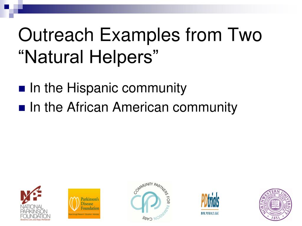 "Outreach Examples from Two ""Natural Helpers"""