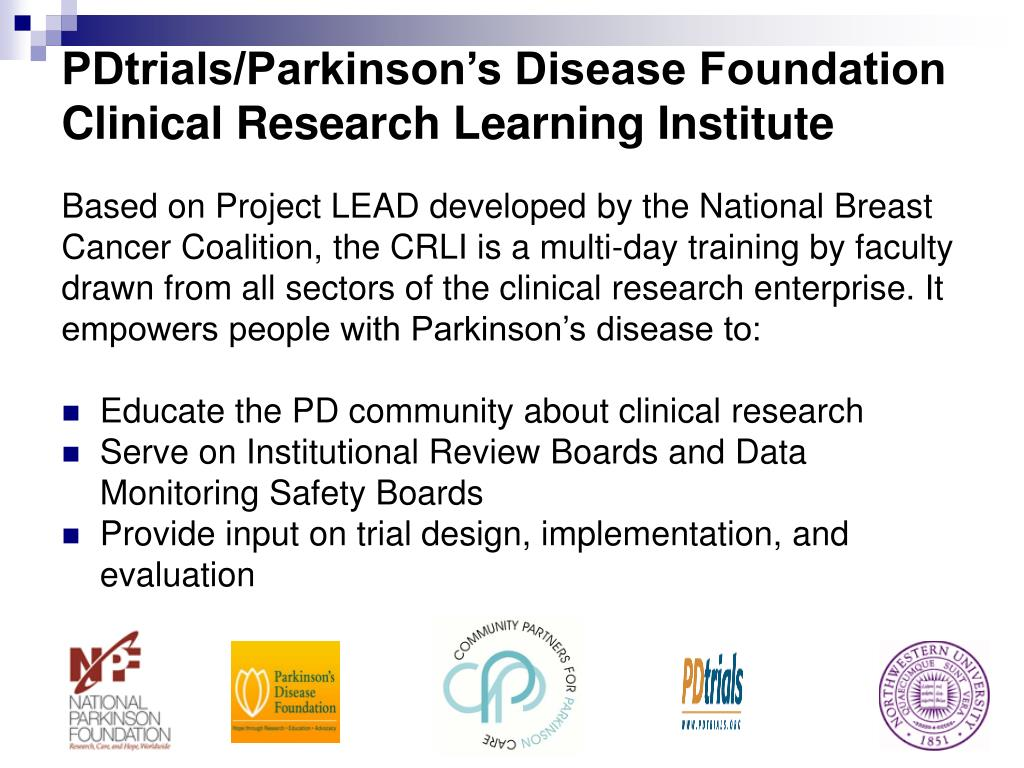 PDtrials/Parkinson's Disease Foundation