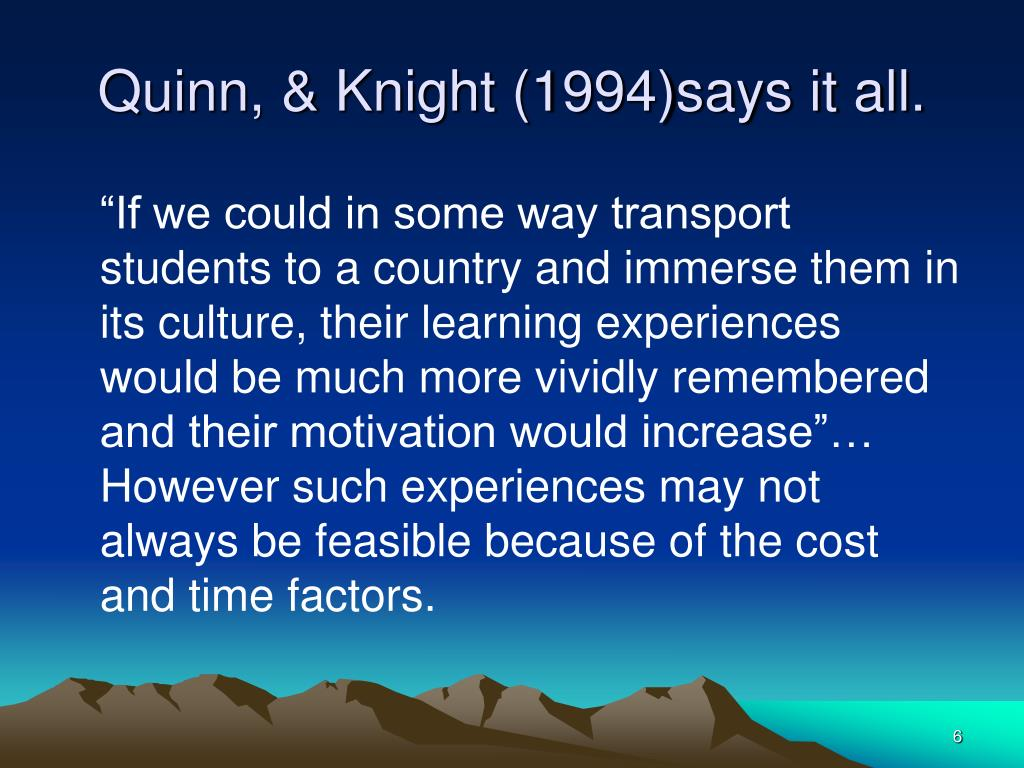 Quinn, & Knight (1994)says it all.